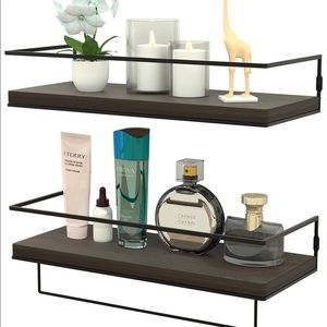 Floating Shelves for Wall Set of 2,Rustic Wood Wa
